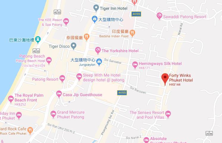普吉岛酒店住宿推荐-1000泰铢包早餐, 走路就可以到江西冷购物中心